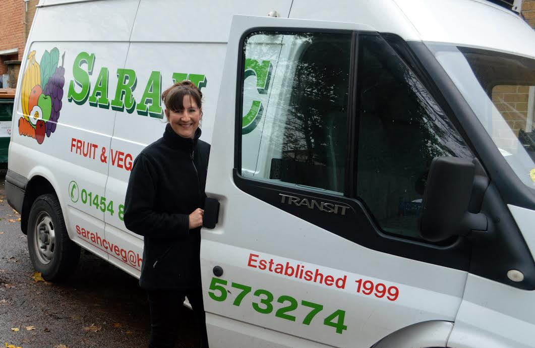 Sarah C – always up at 3.15 to bring home the freshest fruit and veg