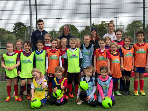 Training started for new girl's football team SSE Wildcats at the end of April.